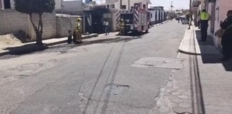 Explosión en taller de motocicletas en Chiautempan