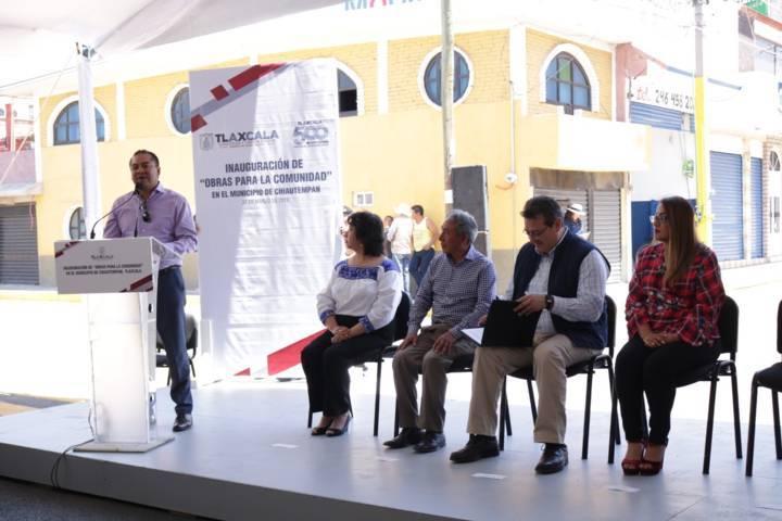 Se benefician más de 50 mil chiautempenses con la gestión de Héctor Dominguez