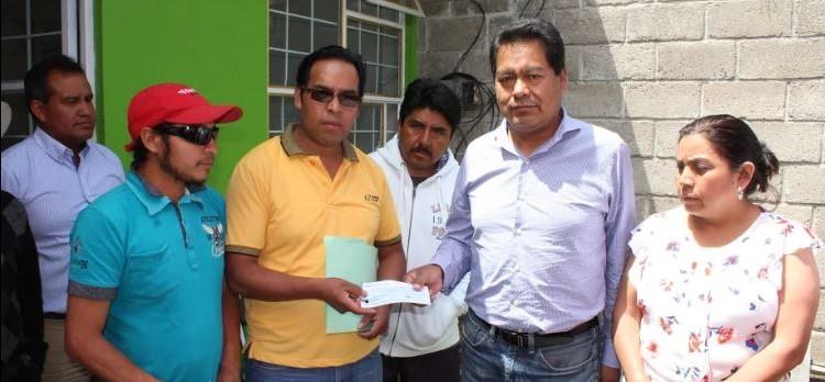Entregan apoyo para proyecto del panteón jardín en San Nicolás  de SPM