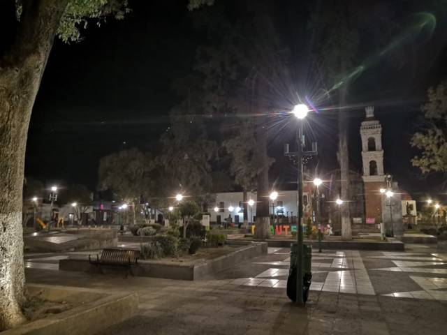 Héctor Domínguez reafirma su compromiso con una inversión de más de 2 mdp en alumbrado