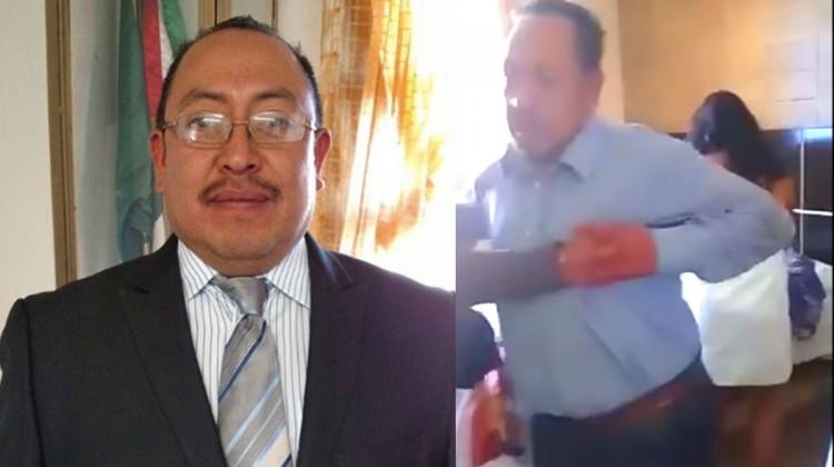 Usa alcalde de Zitlaltepec a la fuerza pública para desalojar a su esposa de su casa