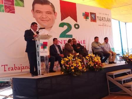 Rinde Segundo Informe presidente de comunidad de Tizatlán