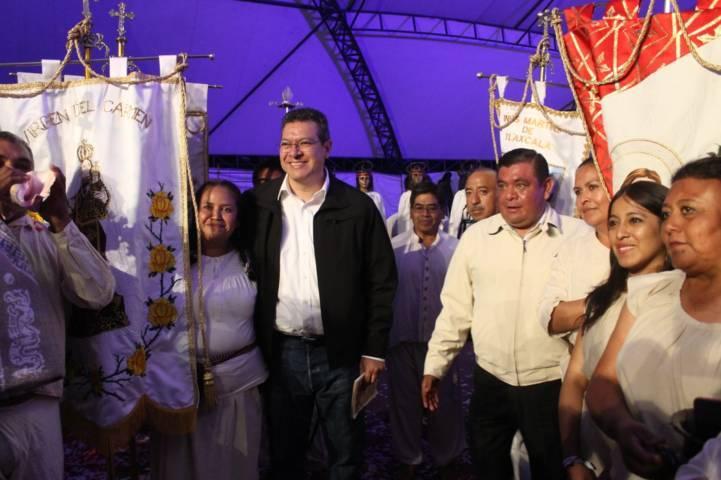 Participó Tizatlán en el 428 Aniversario de la Gran Jornada Tlaxcalteca del Siglo XVI