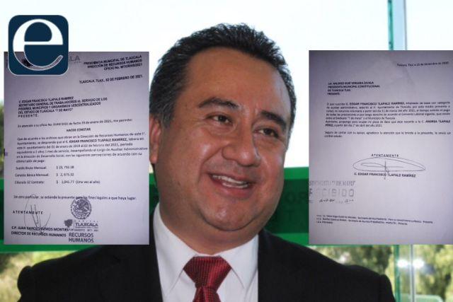 Líder del 7 de Mayo ganaba casi 50 mil pesos en el Ayuntamiento de Tlaxcala