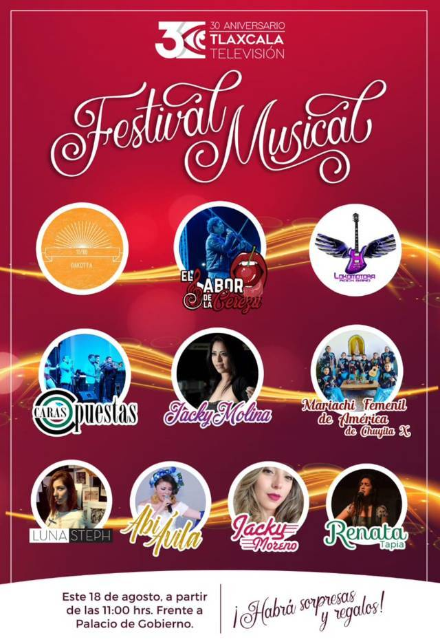 Con Festival Musical celebrará Tlaxcala Televisión su 30 Aniversario
