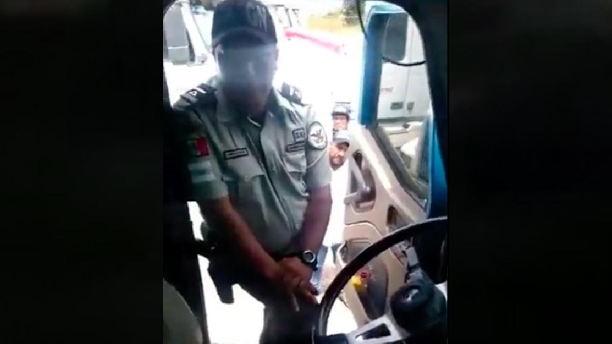 Guardia Nacional investiga a agente captado en extorsión en Tlaxcala