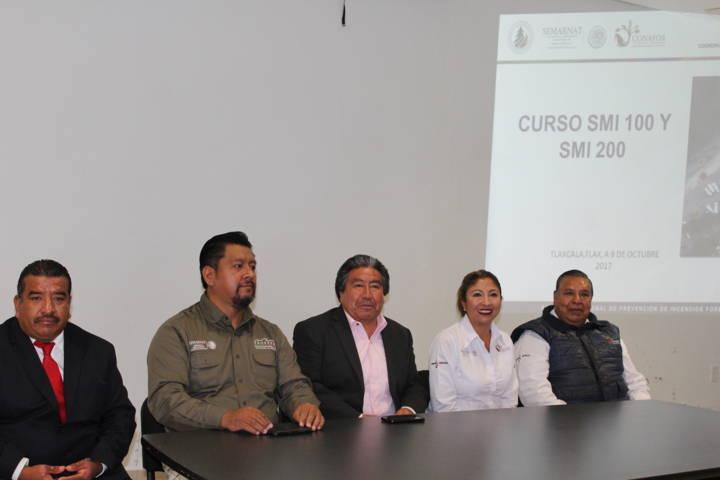 Capacita CONAFOR a 60 elementos de Tlaxcala en manejo de incidentes