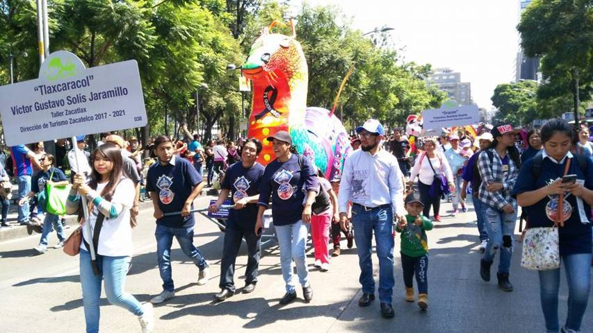Participa Zacatelco con Tlaxcaracol en el desfile en la CDMX
