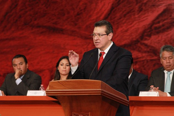 Marco Mena presenta Plan Estatal de Desarrollo