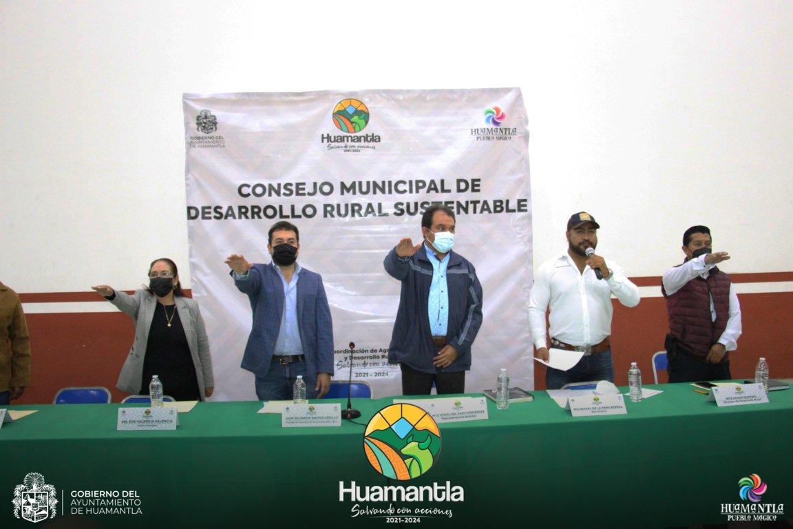 Rinde protesta el Consejo Municipal de Desarrollo Rural Sustentable de Huamantla