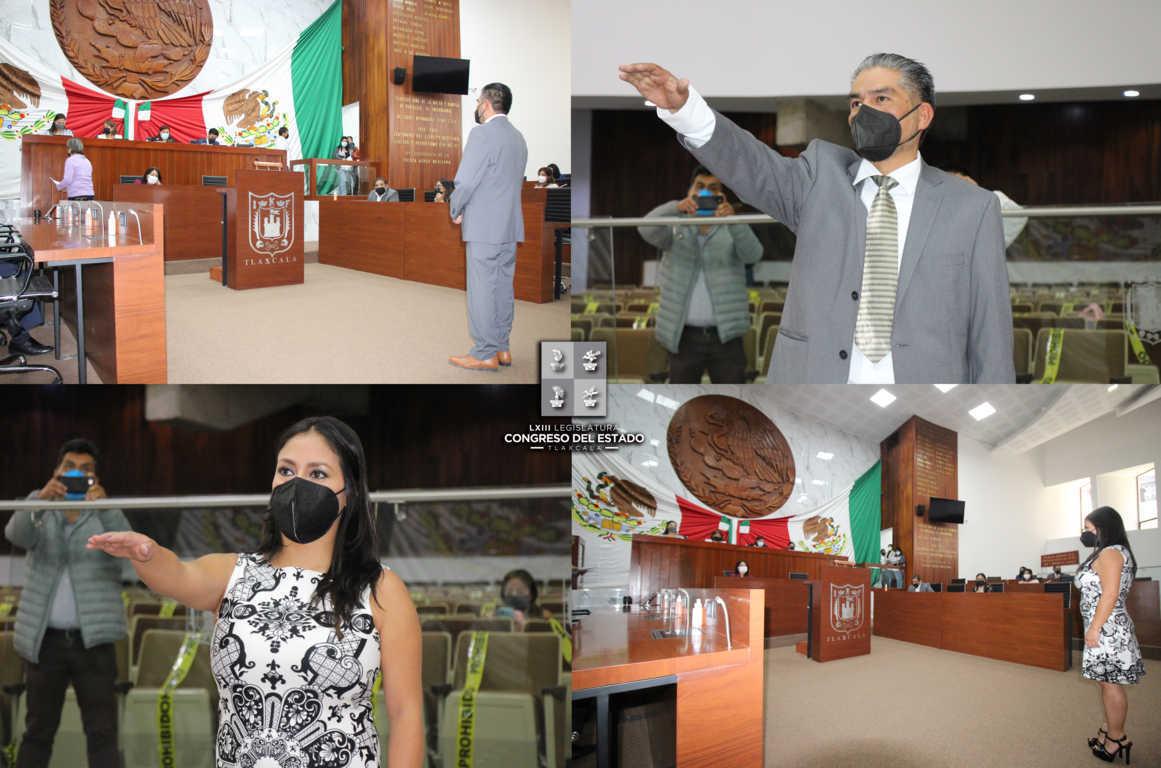 Se integra Israel Lara y Aitzury Sandoval a los trabajos de la LXIII Legislatura