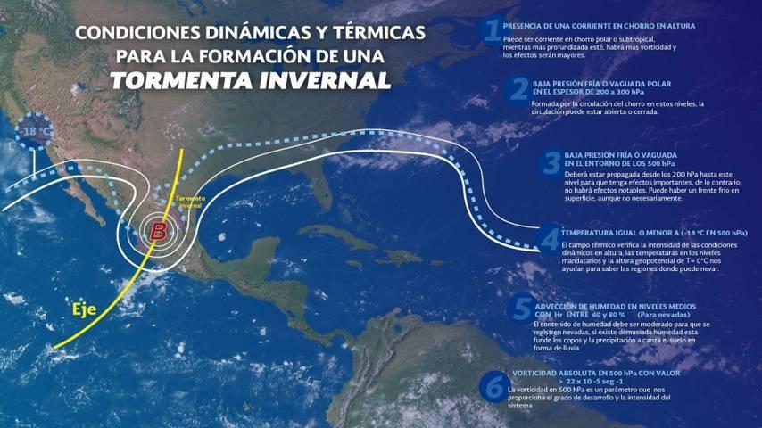 Hoy se prevén tormentas fuertes en Oaxaca, Chiapas y el sur de Veracruz