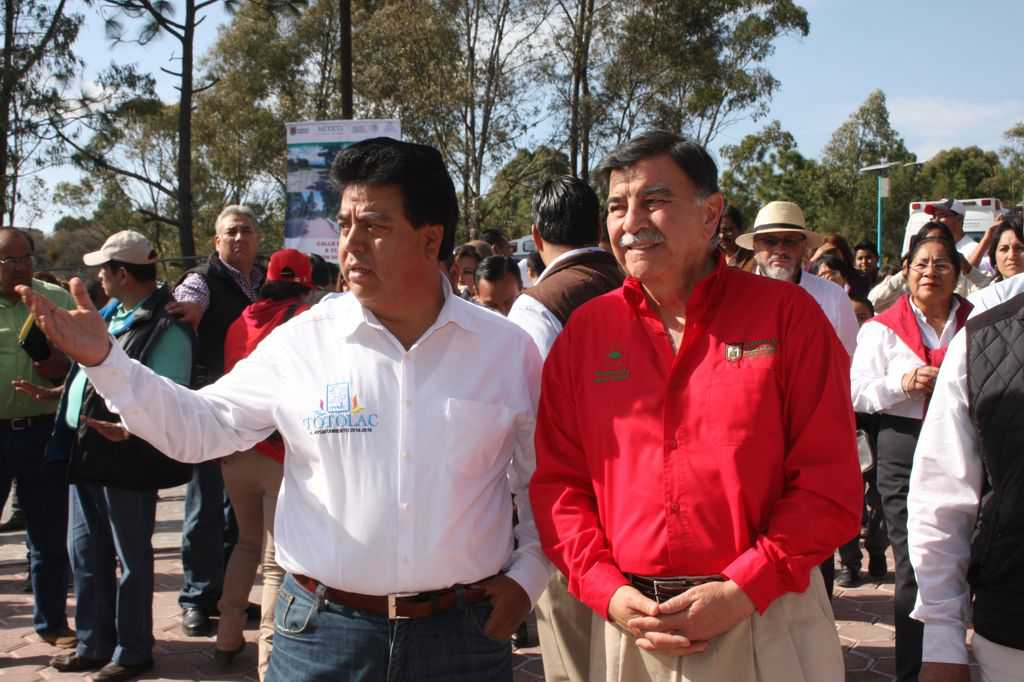 Coinciden gobernador y alcalde de Totolac en coordinar esfuerzos