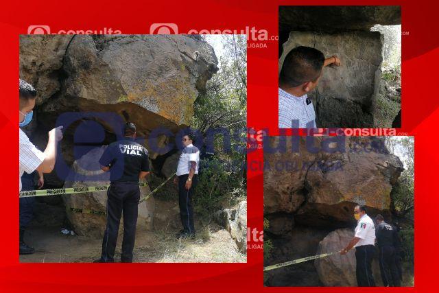 Solicitan investigación por daños a dibujos prehispánicos en Totolac