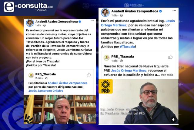 Puro cartucho quemado y político transa felicita a Anabell Ávalos
