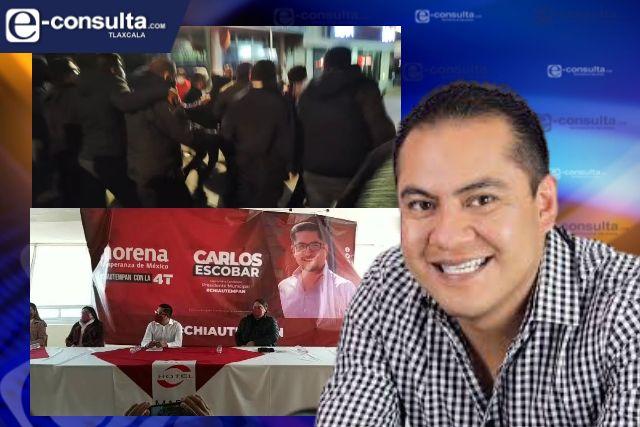 Carnitas quiere a su cuñado como alcalde pero no controla violencia en Chiautempan