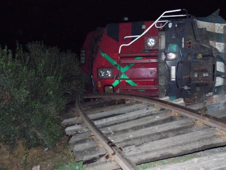 Se descarrila el tren en los límites de Yauhquemehcan y Apizaco