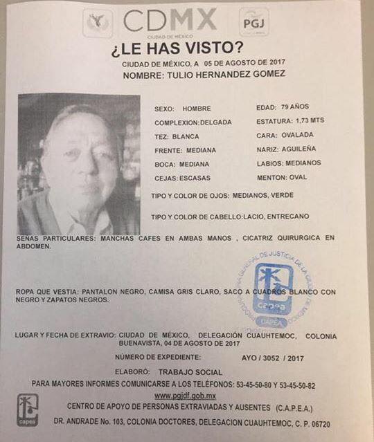 Desaparece ex gobernador de Tlaxcala a unas cuadras del PRI