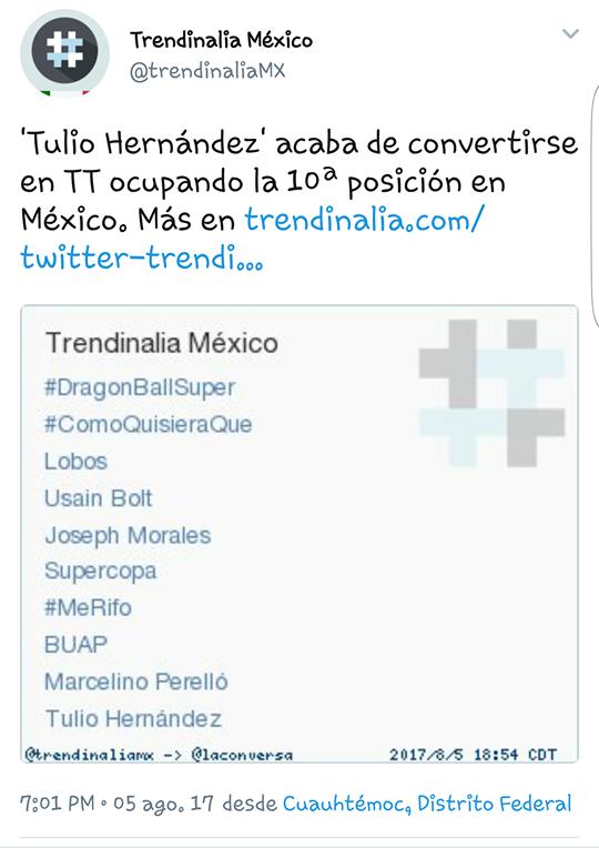 Desaparición de Tulio Hernández Gómez es trending topic