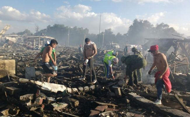 Estado actual de pacientes internados por explosión de Tultepec
