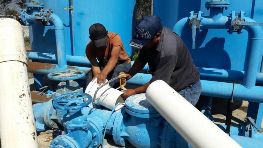 Ayuntamiento da mantenimiento a pozo para mejor la calidad del agua potable