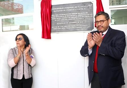 Inaugura UATx edificio en la Facultad de Filosofía y Letras