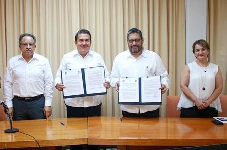 Refrendan colaboración la UATx y la Universidad Autónoma de Baja California Sur