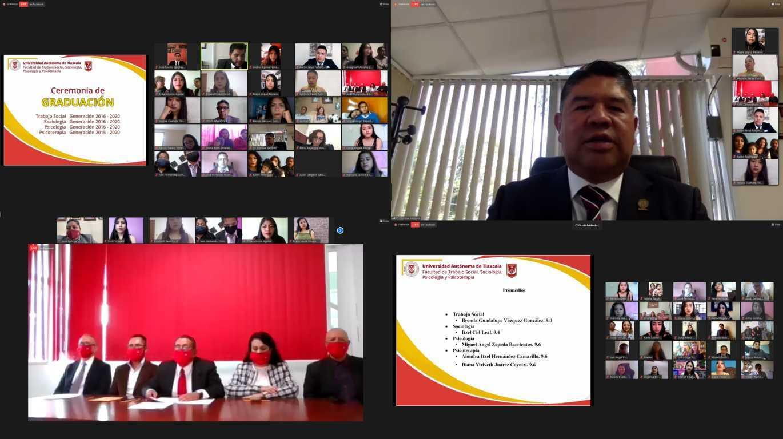 Egresan 146 profesionales de la Facultad de Trabajo Social, Sociología y Psicología de la UATx