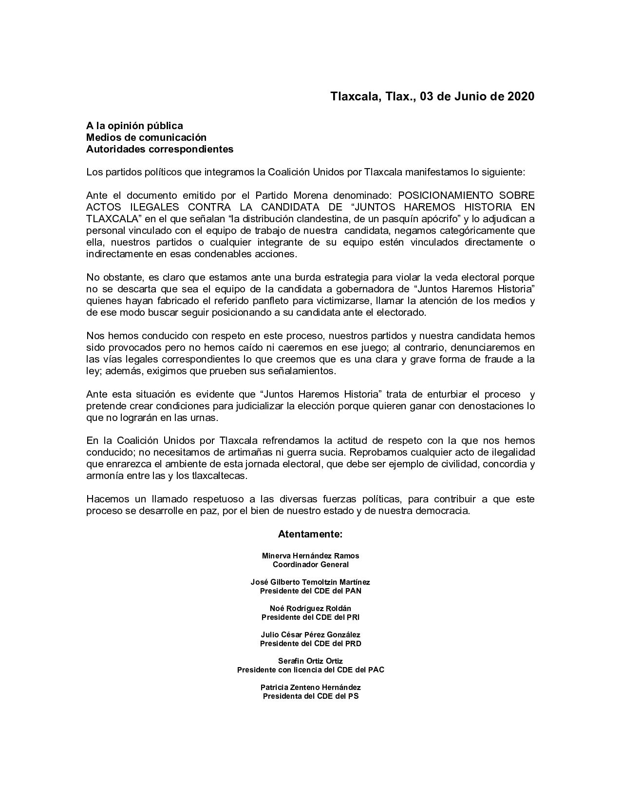 Equipo de campaña de Anabell Ávalos se deslinda de pasquín apócrifo