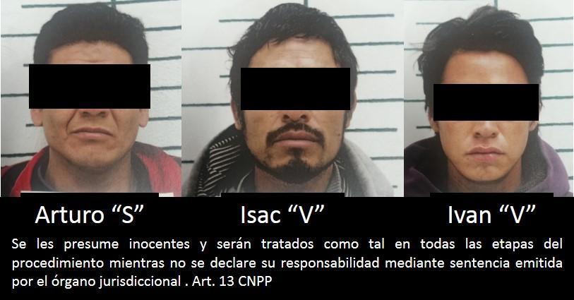 Por robo agravado la FGR obtiene prisión preventiva contra tres personas