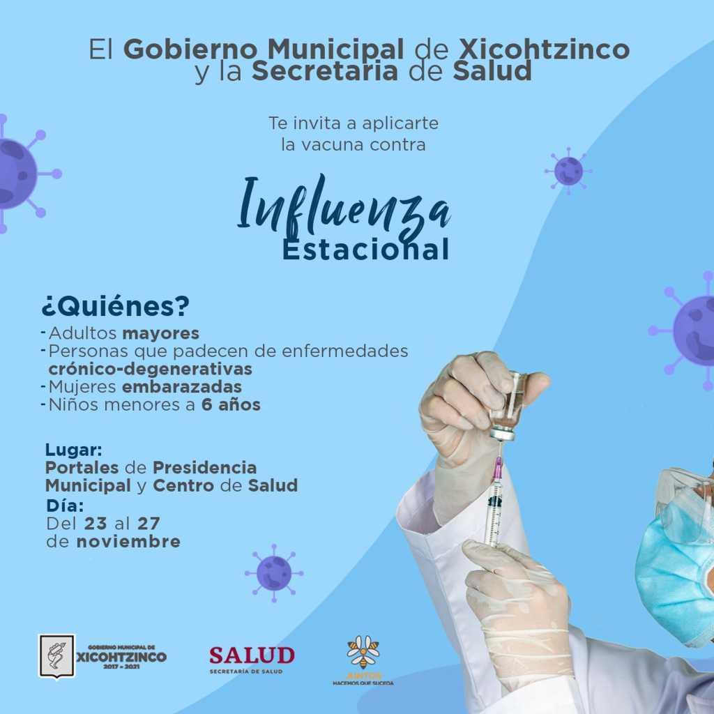 ¡En Xicohtzinco sí hay vacuna contra la influenza!