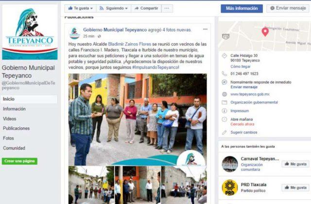 Exdiputado y actual edil de Tepeyanco viola veda electoral