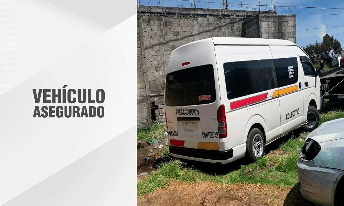 En diligencia de extracción recuperan unidad del transporte público robado