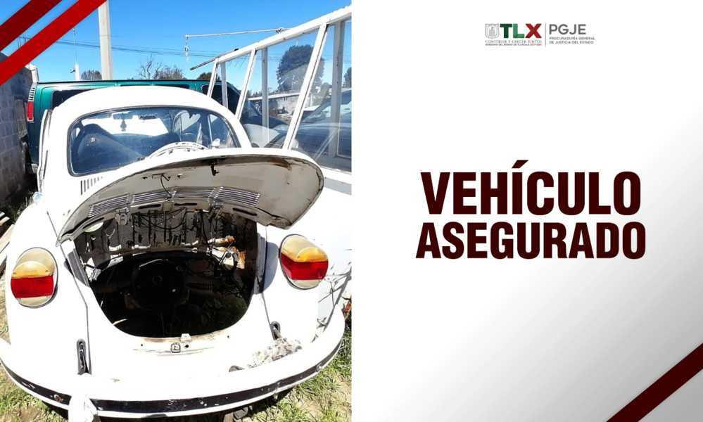 En diligencia de extracción PGJE recupera vehículo con reporte de robo