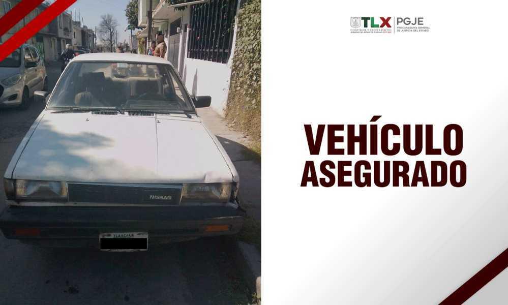 Recupera PGJE vehículo con reporte de robo
