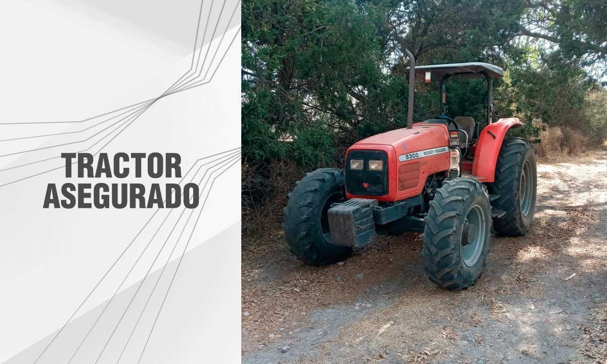 En Ixtenco asegura PGJE tractor con alteración en los numerales