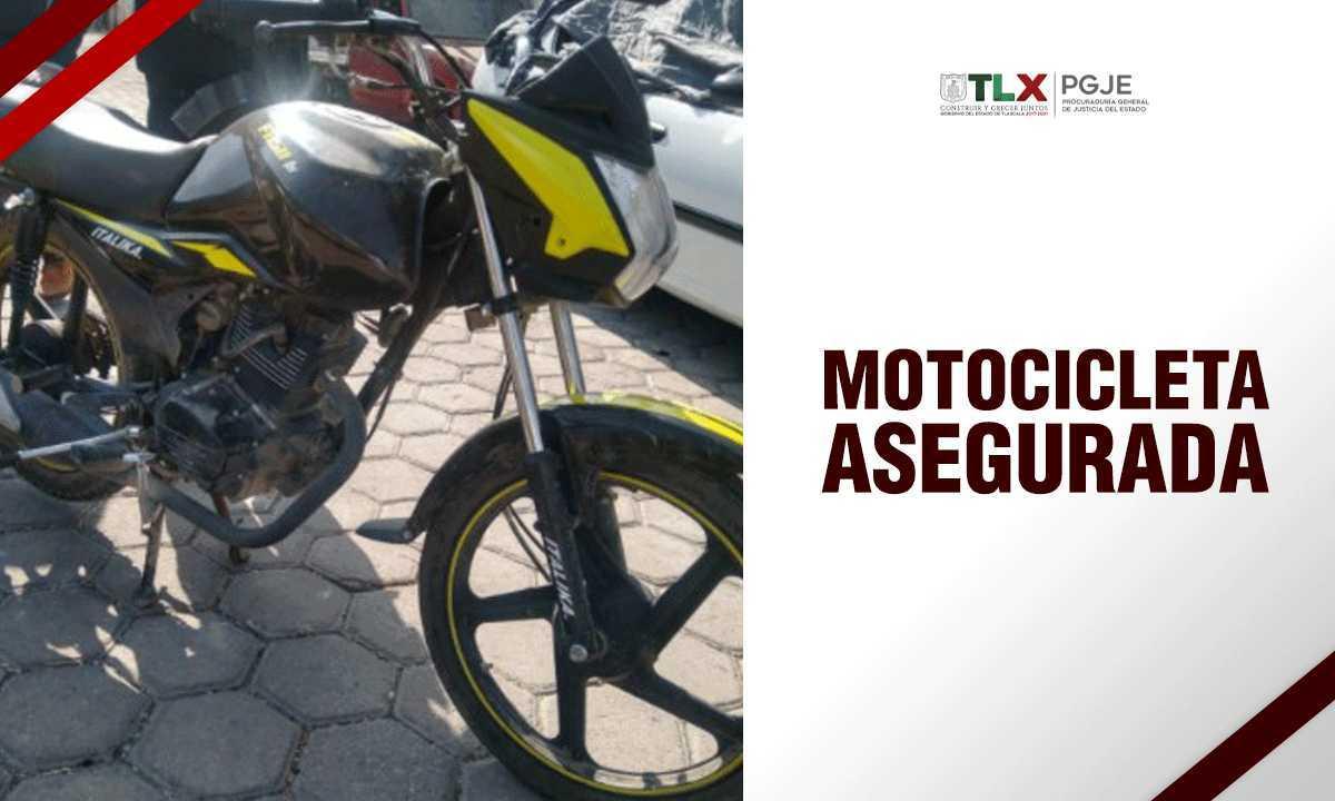 Recupera PGJE motocicleta con reporte de robo