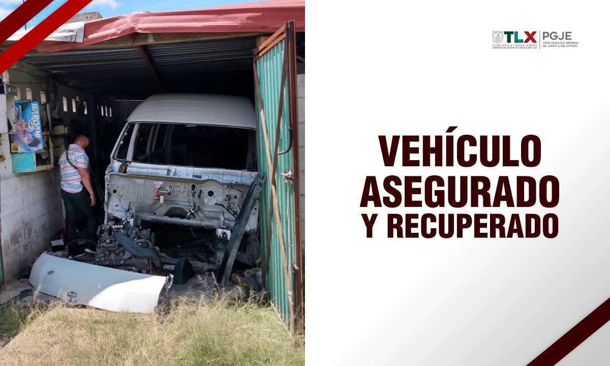 Recupera PGJE camioneta robada del servicio público del Estado de México