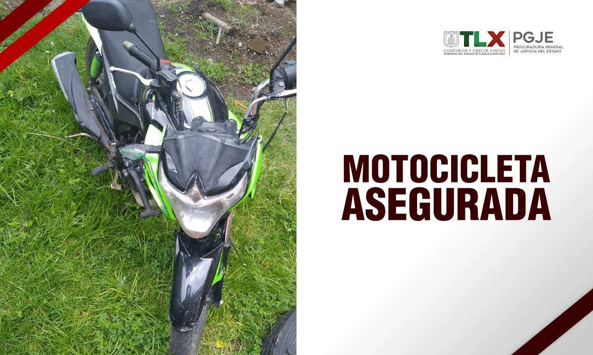 Asegura PGJE motocicleta con irregularidades