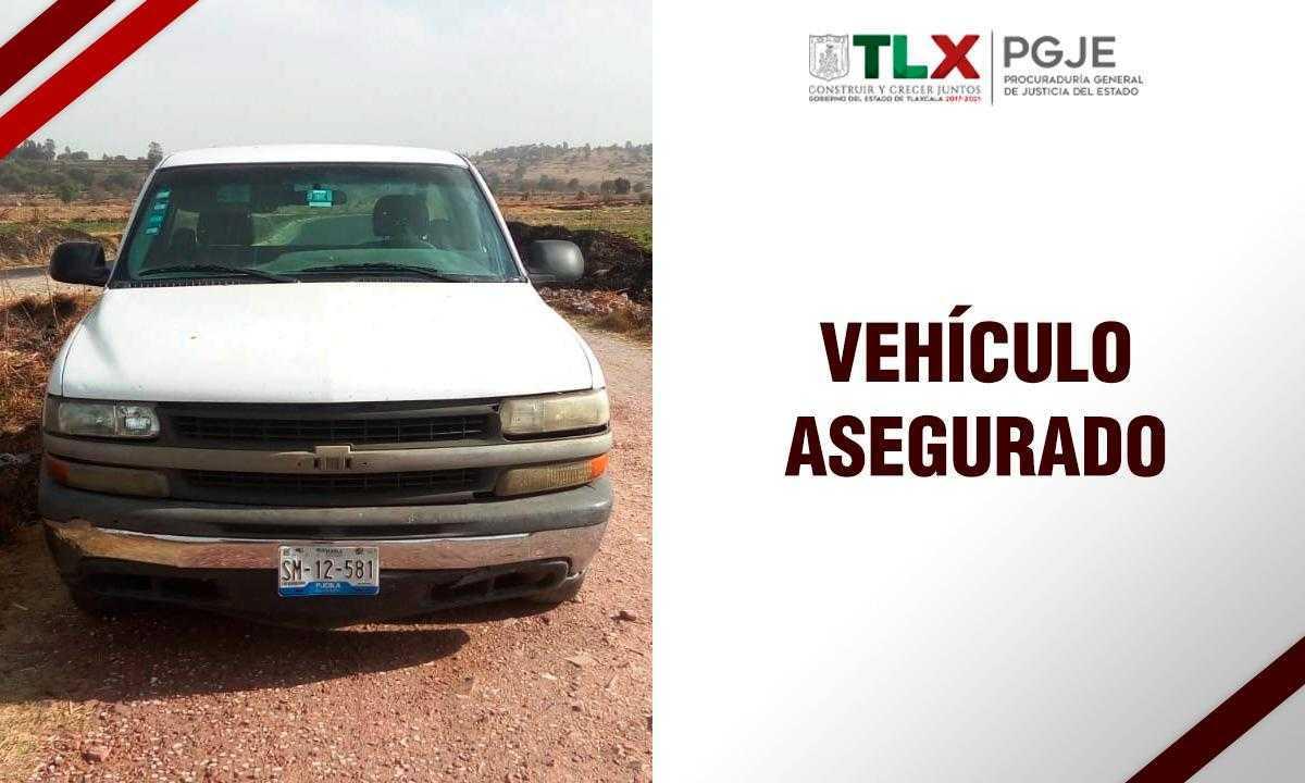 Recupera PGJE vehículo con reporte de robo en el estado de Puebla