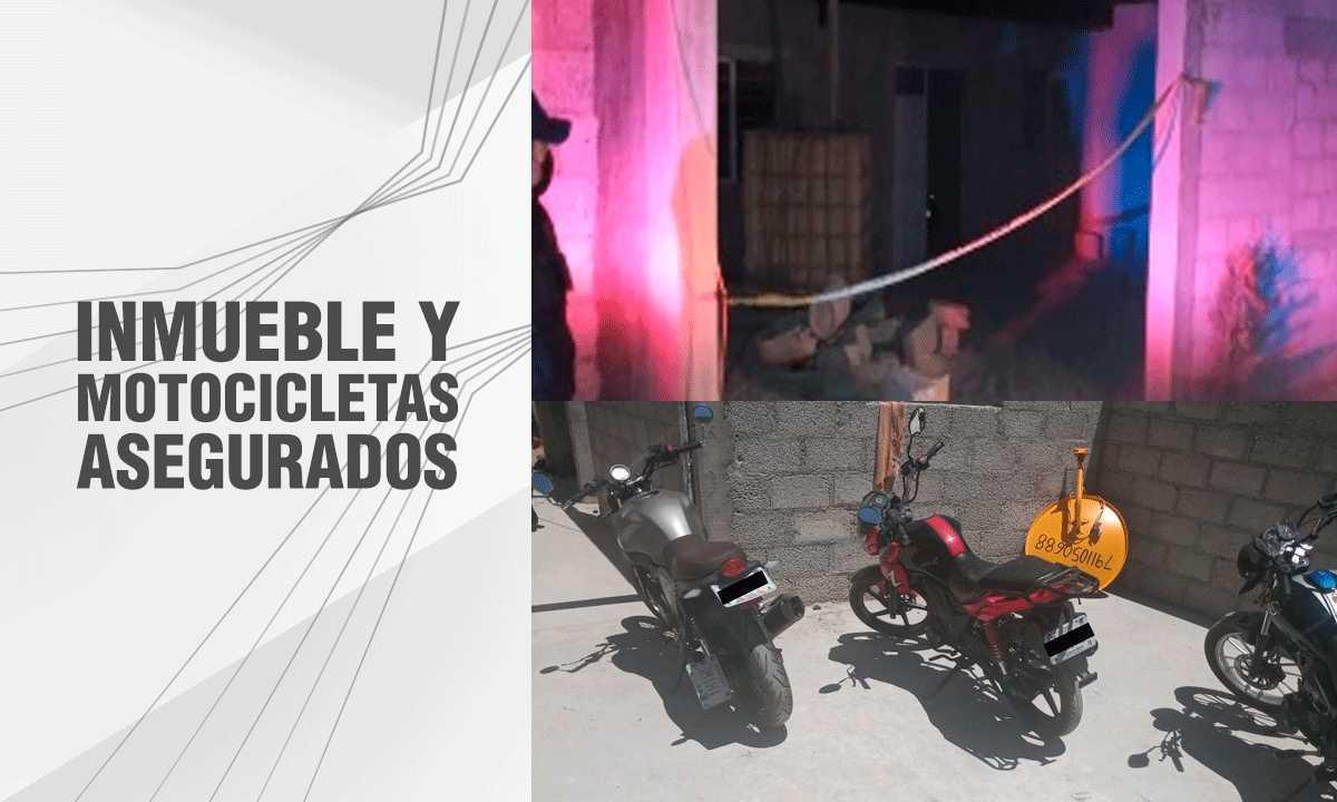 Asegura PGJE inmueble utilizado para remarcar motocicletas robadas