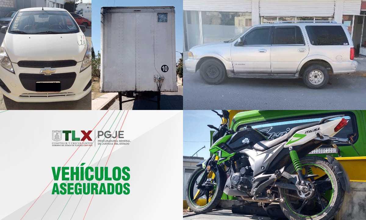 Recupera PGJE dos vehículos, una motocicleta y una caja seca