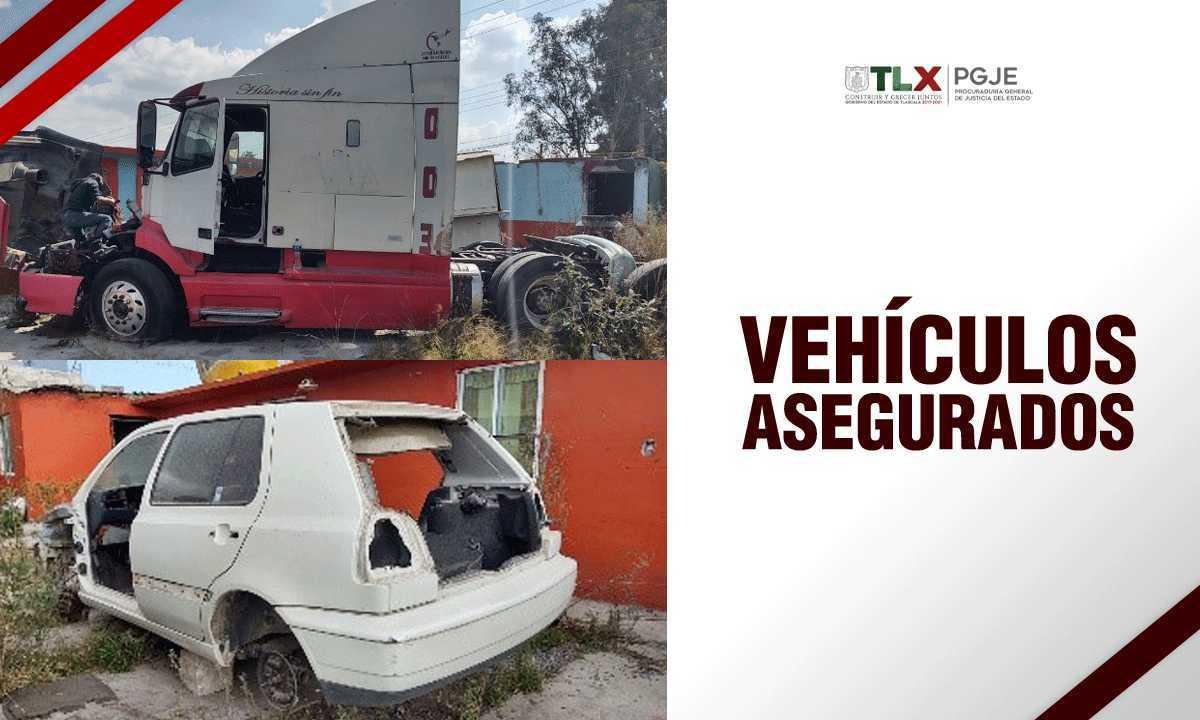 Recupera PGJE dos vehículos durante extracción en Tetla