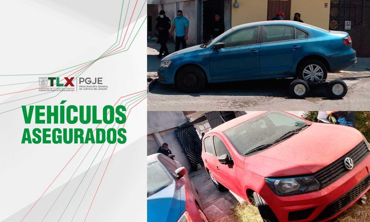 En diligencia de extracción PGJE recupera dos vehículos con reporte de robo en Puebla
