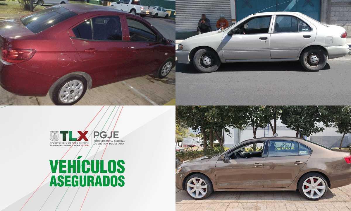 En diferentes acciones recupera PGJE tres vehículos