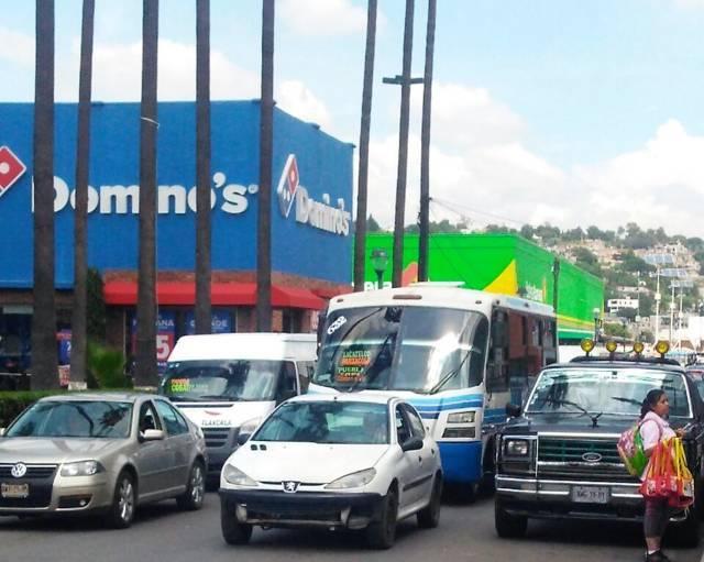 Alerta Ayuntamiento de Tlaxcala sobre congestionamiento vial