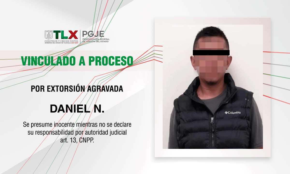 Obtiene PGJE vinculación a proceso contra imputado por extorsión agravada
