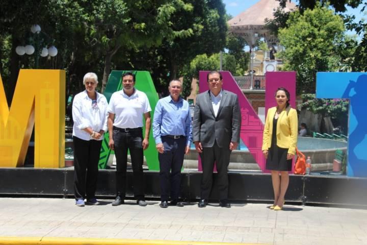 Sánchez Jasso recibió a sus homólogos de Zacatlán y Chignahuapan