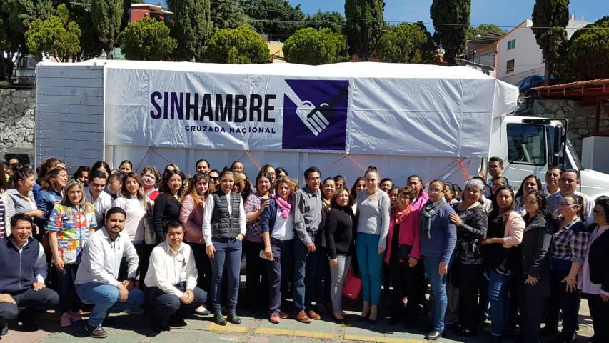 Sedesol Tlaxcala da banderazo de salida a 7 toneladas de viveres para Tamaulipas