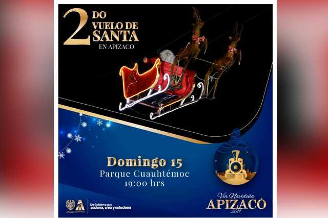 Este domingo volverá a volar Santa en Apizaco